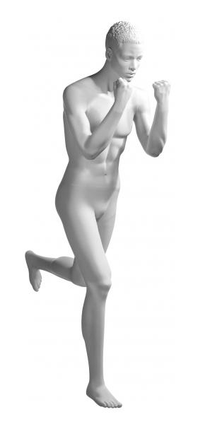 Athletix sportovní figurína, posice AHM-18, bílá