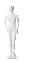 Dámská figurína Irene bílá, postoj 4, prolisované vlasy