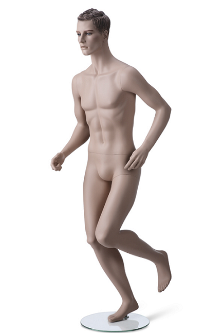 Kevin Runner sportovní figurína, prolisované vlasy, tělová s makeup