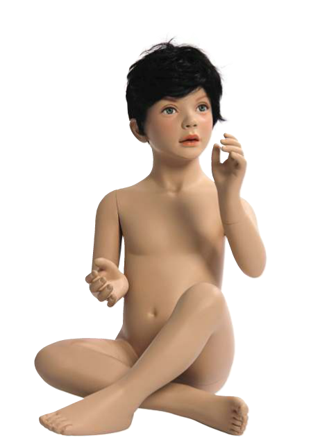 Kids Club dětská figurína Benjamin 4 roky, postoj 2, hlava na paruku, tělová