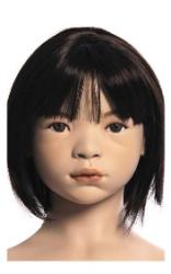 Kids Club dětská figurína Mia 4 roky, postoj 1, hlava na paruku, tělová