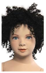 Kids Club dětská figurína Noah 2 roky, postoj 2, hlava na paruku, tělová