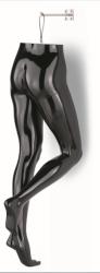 Nohy na zavěšení dámské, černé lesklé