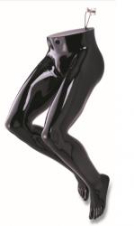 Nohy na zavěšení pánské, černé lesklé