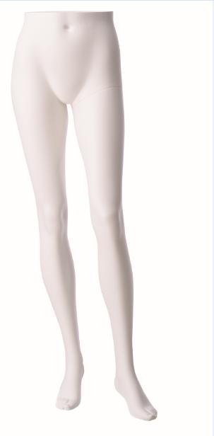 Nohy stojící dámské, bílé matné, posice 1