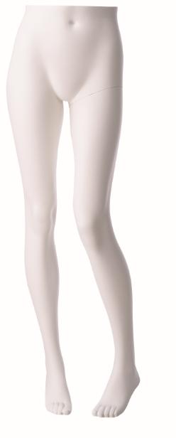 Nohy stojící dámské, bílé matné, posice 2