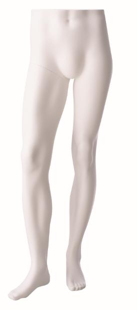 Nohy stojící pánské, bílé matné, posice 1