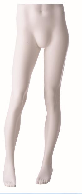 Nohy stojící pánské, bílé matné, posice 2