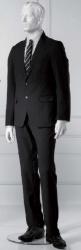 Pánská figurína Nik bílá, postoj 1, prolisované vlasy
