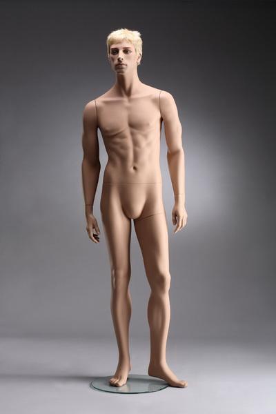 Pánská figurína Nik tělová, postoj 1, hlava na paruku, make-up