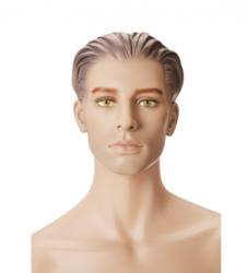 Pánská figurína Nik tělová, postoj 2, hlava s prolisovanými vlasy, make-up