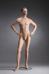 Pánská figurína Nik tělová, postoj 4, hlava s prolisovanými vlasy, make-up