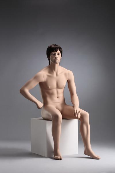 Pánská figurína Nik tělová, postoj 5, hlava na paruku, make-up