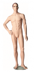 Pánská figurína Patrick tělová, postoj 5, prolisované vlasy, make-up