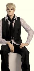Pánská figurína Patrick, tělová s make-up