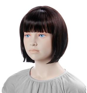 Paruka Minne, dětská, tmavě hnědá