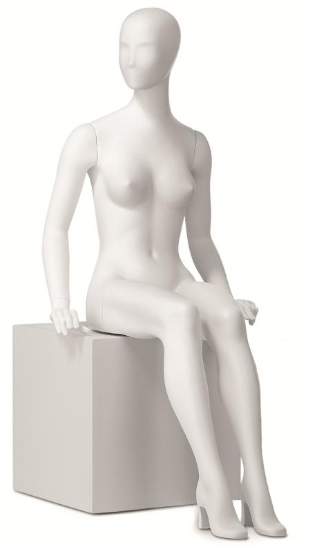 Retro dámská, postoj 11, hlava Kara, bílá matná
