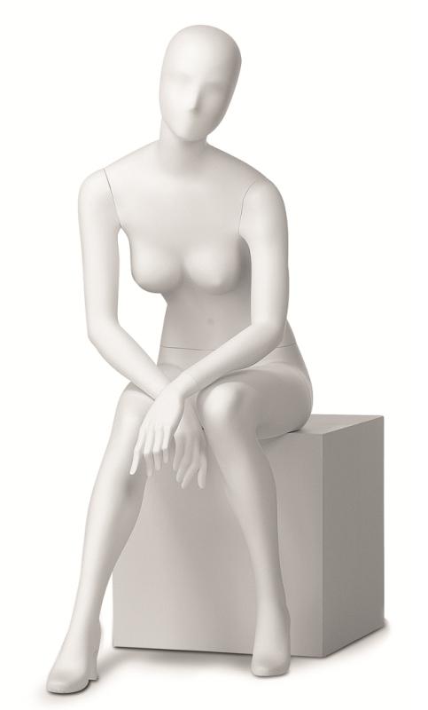 Retro dámská, postoj 12, hlava Kara, bílá matná