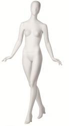 Retro dámská, postoj 2, hlava Kara, bílá matná