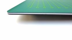 Řezací podložka 120x90 cm, zeleno/zelená, jednostranná, tloušťka 3 mm