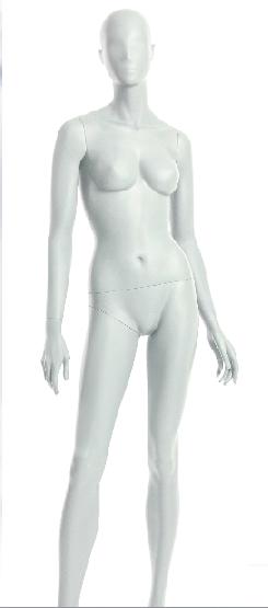 Semira, postoj 2, dámská figurína, abstraktní hlava, bílá matná