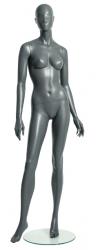 Semira, postoj 2, dámská figurína, abstraktní hlava, šedá, nano – povrchová úprava