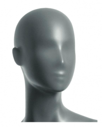 Semira, torso dámské - krátké, abstraktní hlava, šedá, nano – povrchová úprava