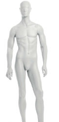 Semiro, postoj 2, pánská figurína, abstraktní hlava, bílá matna