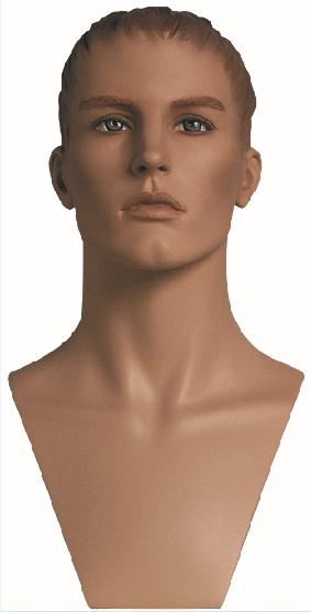 Sportovní hlava Adam, tělová s prolisovanými vlasy a s make-up