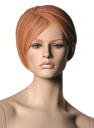 "Chelsea, postoj 12, hlava Elva, Make-up ""mid town"", barva ""ccm"", hlava s prolisovanými vlasy"