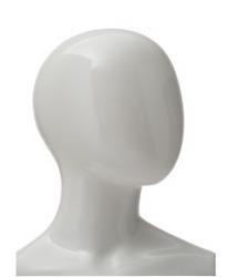 Ringo dětská figurína, 8 let, postoj 1, lesklá bílá