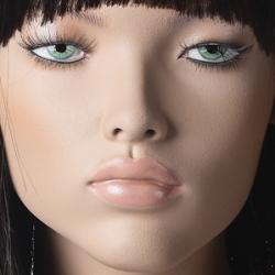 Tough, postoj 8, hlava Yukiko, Make-up Yukiko, barva suntan, hlava na paruku