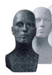 Hlava pánská Marc, granit