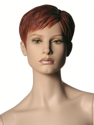 """Chelsea, postoj 1, hlava Lena, Make-up """"down town"""",barva """"ccm"""", hlava s prolisovanými vlasy"""
