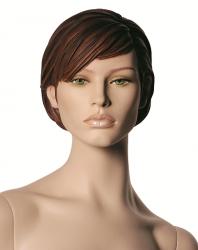 "Chelsea, postoj 2, hlava Chelsea, Make-up ""up town"",barva ""ccm"", hlava s prolisovanými vlasy"