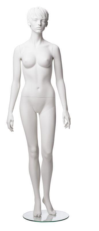 Dámská figurína Adela bílá, postoj 2, prolisované vlasy