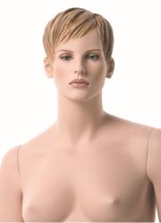 Dámská figurína XXL, tělová s make-up, prolisované vlasy