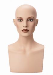 Hlava Isabelle, bez vlasů s make-up, výška 45 cm