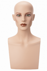 Hlava Isabelle, bez vlasů s make-up, výška 50 cm