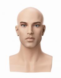 Hlava Vincent, bez vlasů s make-up, výška 35 cm