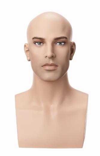 Hlava Vincent, bez vlasů s make-up, výška 45 cm