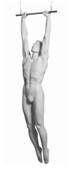 Kevin Acrobat sportovní figurína, prolisované vlasy, bílá
