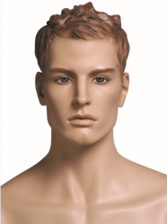 Kevin Basketball sportovní figurína, prolisované vlasy, tělová s makeup