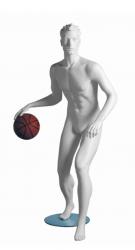 Kevin Basketball sportovní figurína, prolisované vlasy, bílá