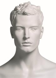 Kevin Diver sportovní figurína, prolisované vlasy, bílá