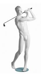 Kevin Golf sportovní figurína, prolisované vlasy, bílá