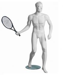 Kevin Tennis sportovní figurína, prolisované vlasy, bílá