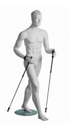 Kevin Walker sportovní figurína, prolisované vlasy, bílá