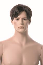 Pánská figurína XXL, tělová s make-up, hlava na paruku