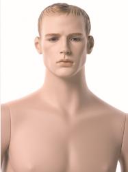 Pánská figurína XXL, tělová s make-up, prolisované vlasy